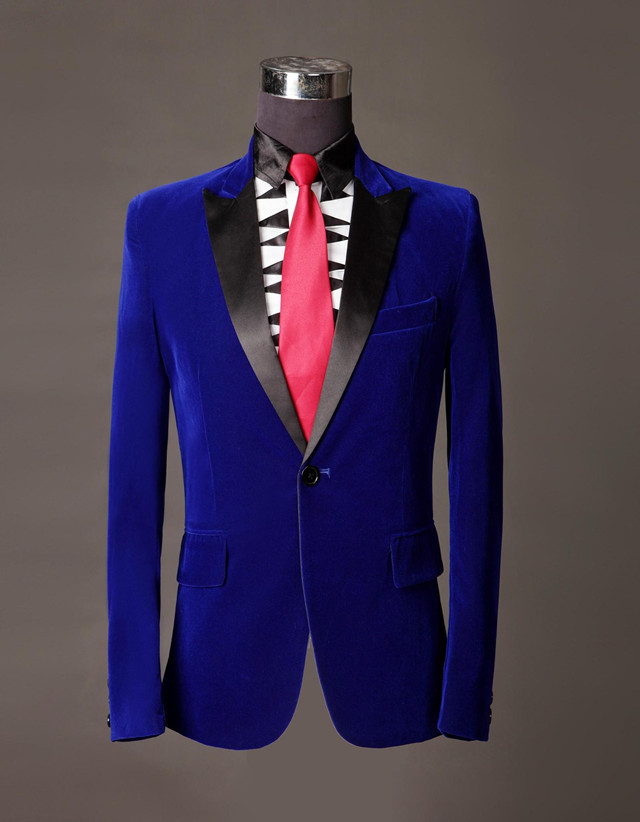 Online Buy Wholesale royal blue suit jacket 2016 prom from China