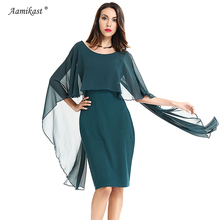 Buy Aamikast 2017 Women Chiffon Patchwork Dress Sexy Plus Size Summer Vintage Dresses Elegant Pencil Party Bodycon 4XL Vestidos for $14.63 in AliExpress store