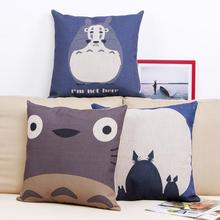 Hayao Miyazaki Style Linen Cotton Pillow Throw Pillow