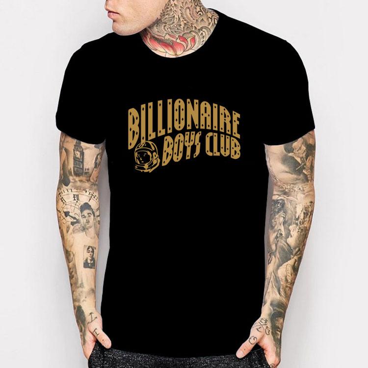 BILLIONAIRE BOYS CLUB T SHIRT BBC YOLO HIP HOP SHIRTS MEN WOMEN Harajuku Style camisetas GOLD PRINT CASUALS DESIGN TEE SHIRTS(China (Mainland))