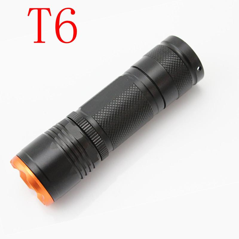 100pcs/lot Flashlight T6 light T6 rechargeable light flashlight light LED flashlight tactical long shots flashlight(China (Mainland))