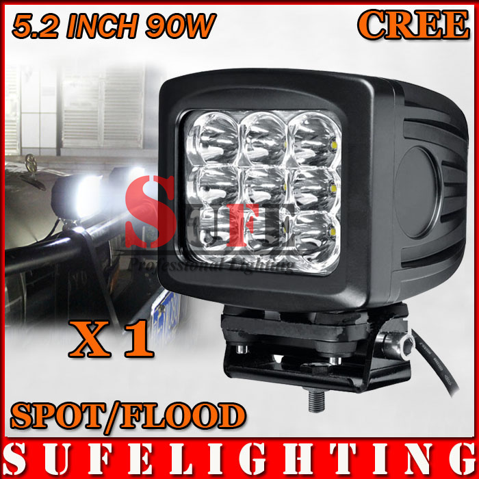 90W CREE LED Working Light Offroad LED Driving Light Truck Tractor 4X4 4WD CAR LED Fog Light kit 70w 80W 60W(China (Mainland))