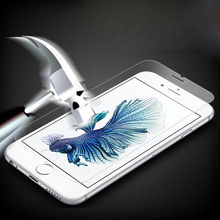 0.26mm 9H tempered glass For iphone 4 4s 5 5s 5c 6 6s 6plus screen protector protective guard film front case cover+clean kits