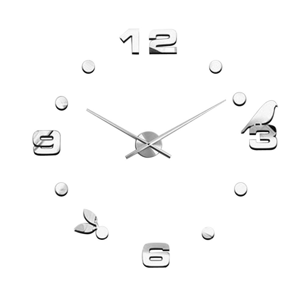 Horloge murale taille promotion achetez des horloge murale for Decoration murale oiseau 3d