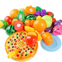 24 Pcs/ Set Pretend Play Classic Kitchen Toys Qiele Cut Interactive Health DIY Toy Kids Children Favorite Girl Fruits Vegetables(China (Mainland))