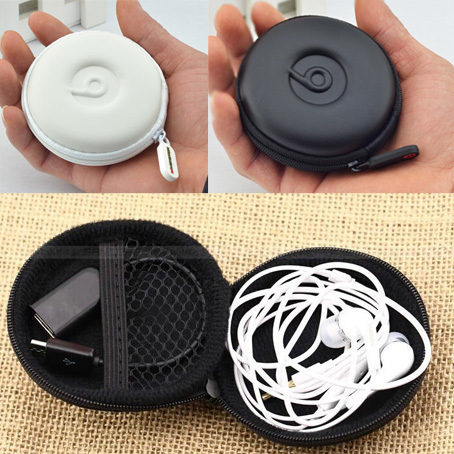 1 pc New Hot Sale Portable Traval Earphone Case Headphone Storage Carrying Hard Bag Earbuds SD Card Micro USB Cable Box(China (Mainland))