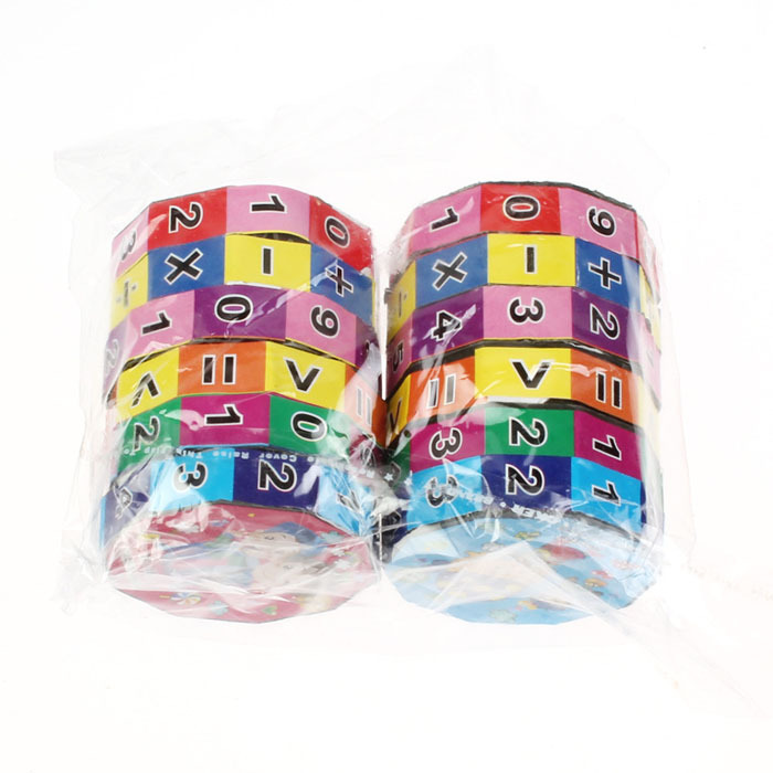 Top selling New Arrival 2PC Baby Children's Number Multi Activity Cube Math Educational Toy Free shipping Feida(China (Mainland))