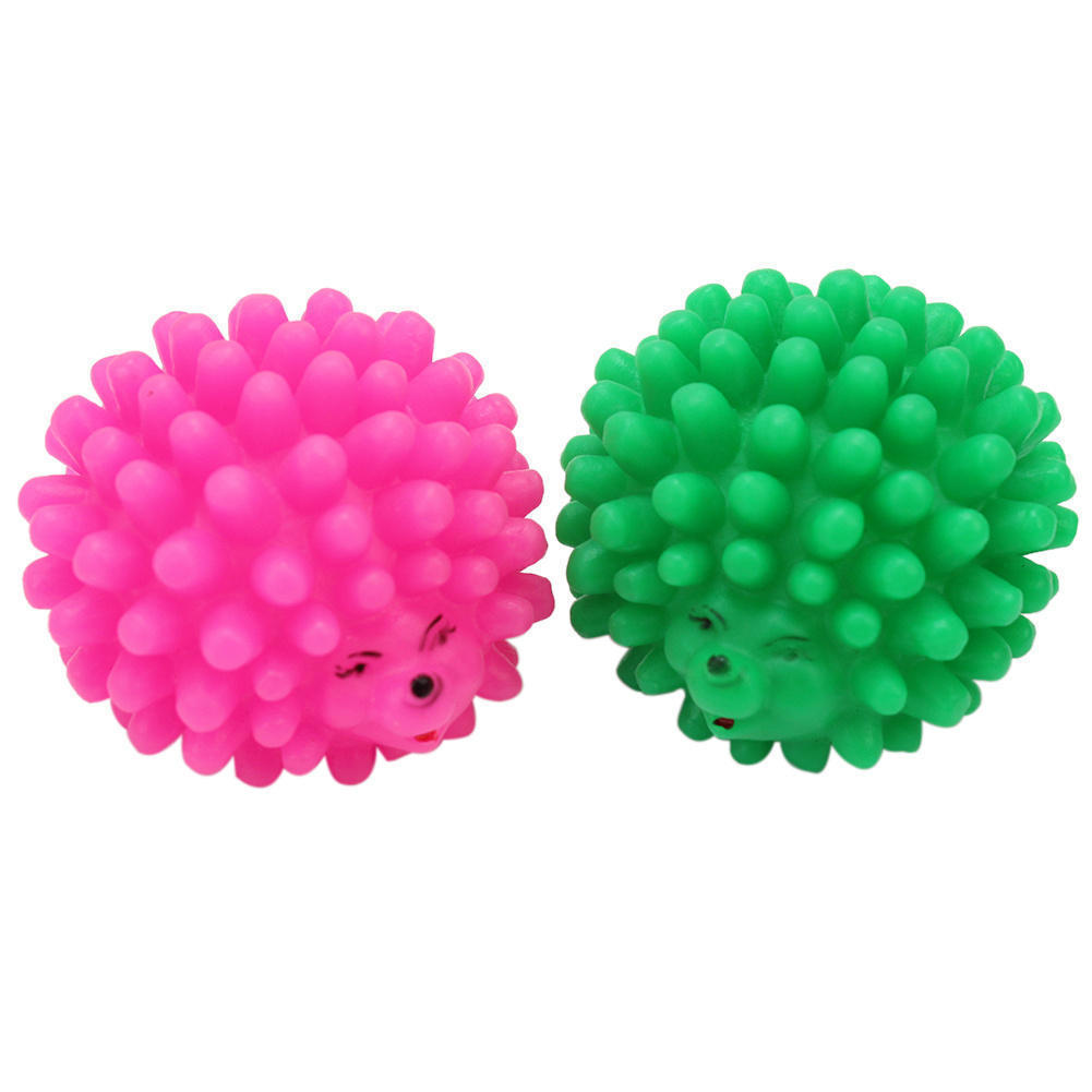 2Pcs Pet Puppy Dog Chew Toy Gift Squeaker Soft Rubber Animal Hedgehog Shape Funny Supplies 6.2x6.4x4.4cm(China (Mainland))