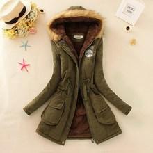 2016 nova Parkas mulheres casaco de inverno mulheres espessamento de algodão mulheres jaqueta de inverno Outwear Parkas para mulheres inverno