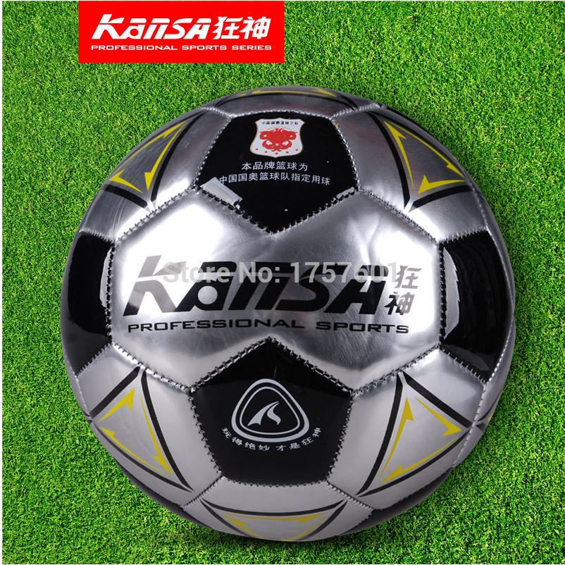 Hot Sale Genuine KS0947 size5 Sewing Machinery technology durability waterproof PVC football ball Free With Needle+Mesh bag!(China (Mainland))
