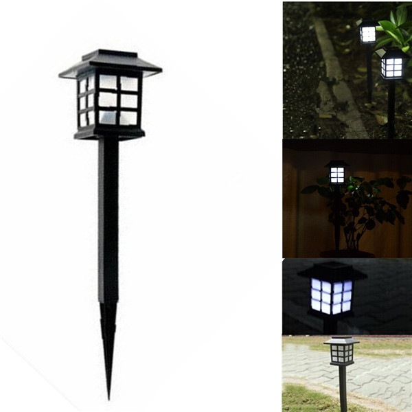 Big Promation 2015 Hot Waterproof Cottage Style White LED Solar Garden Light Outdoor Garden Lawn Landscape Decoration Lamps(China (Mainland))