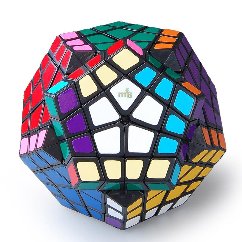 MF8 Megaminx 4X4 Plastic Magic Cube Black Hot Selling Brain Teaser Twisty Puzzle Toy cubo magico Free Shipping(China (Mainland))