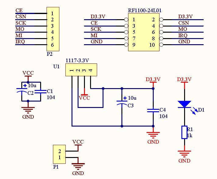 Free Shiping Base Module for nRF24L01 - 3.3V Regulator
