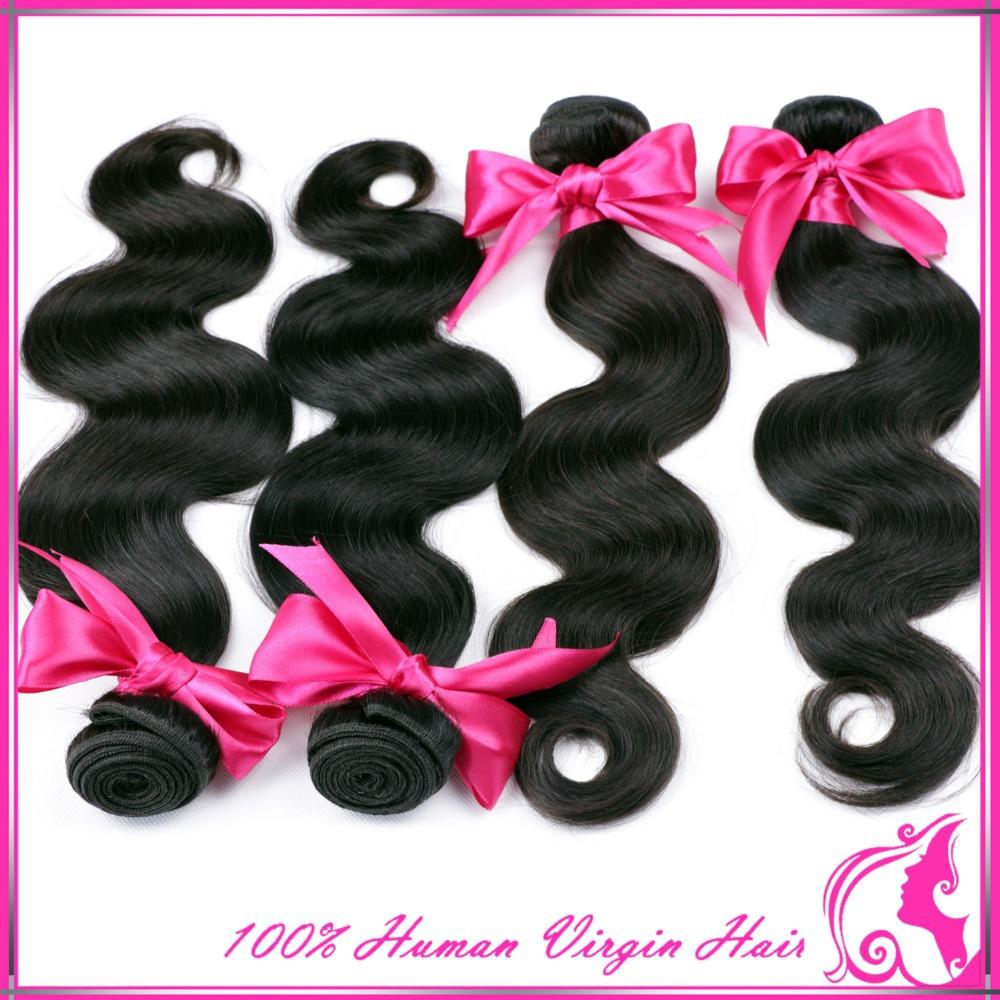 Rosa hair products Brazilian body wave,5A Brazilian virgin hair body wave, unprocessed virgin brazilian hair human hair weaves(China (Mainland))