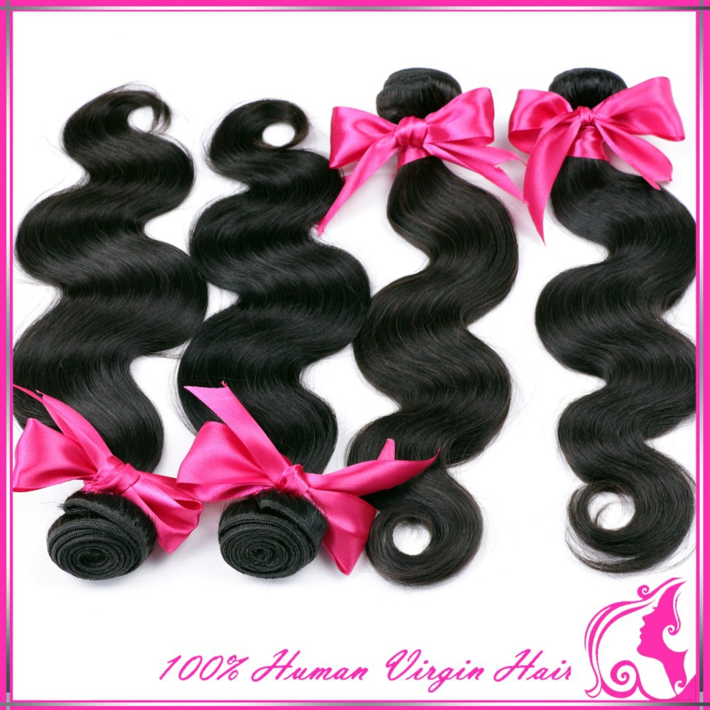 Rosa hair products Brazilian body wave,5A Brazilian virgin hair body wave, unprocessed virgin brazilian hair human hair weaves(China (Mainland))