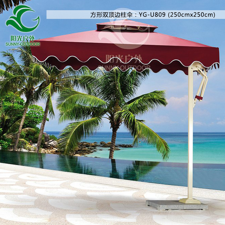 Spike outdoor umbrellas beach umbrella booth side column courtyard tents sun<br><br>Aliexpress