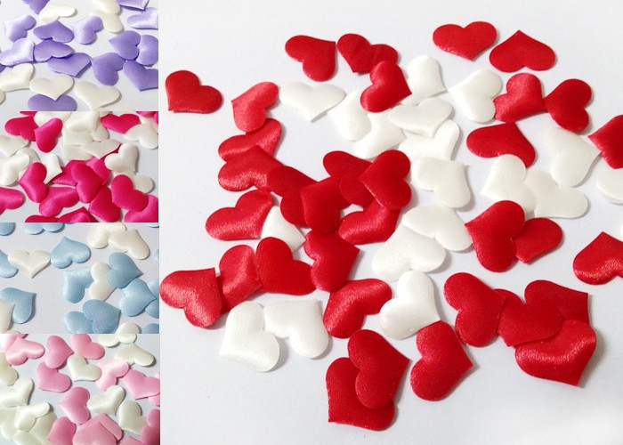 1000pcs Rose Flower Petals Leaves Wedding Table Decorations throwing heart petals valentines day decoration party supply A62(China (Mainland))