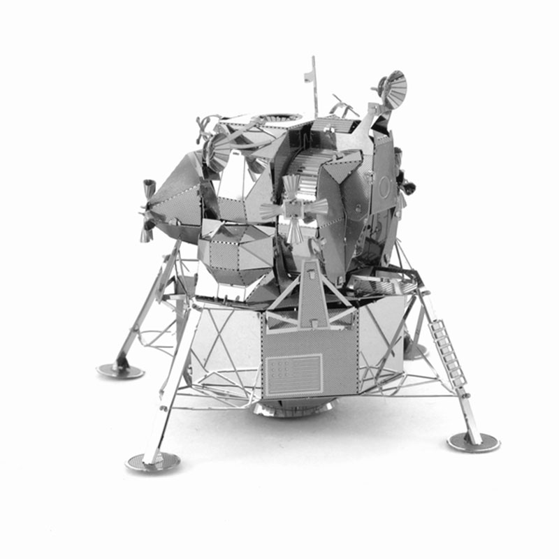 DIY 3D Metal Puzzle Luna Module Space Probe Director Robot Educational Leisure Jigsaws Children's Favorite Toys Gift(China (Mainland))