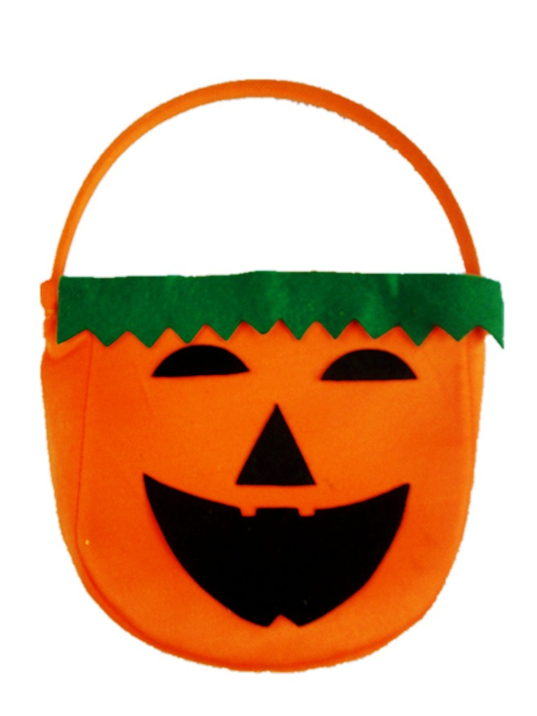 Free shipping ,5pcs/lot,Promotion,halloween pumpkin candy bag, halloween decoration,material:felt(China (Mainland))