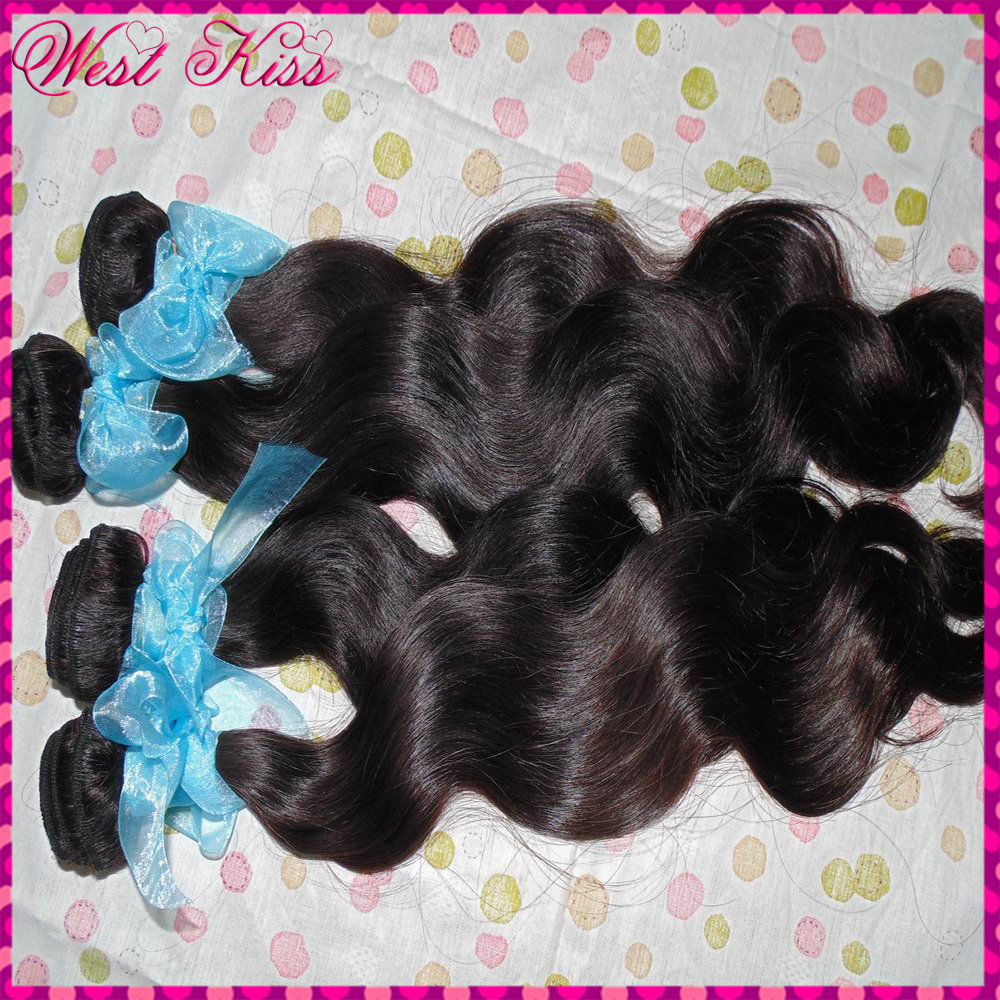 Guangzhou WestKiss hair 7A super quality russian virgin non-processed hair natural colors body wave 3 bundles mixed lots(China (Mainland))