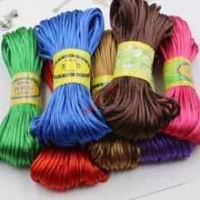 10yard Soft Satin Rattail Silk Macrame Cord Nylon Kumihimo Shamballa For Diy Bracelet Necklace Jewelry Findings Accessories 2mm(China (Mainland))