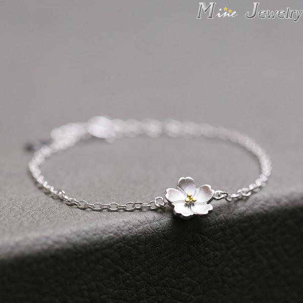 925 серебряные браслеты чистое серебро 925 цветущей сакуры браслеты украшения браслеты ...