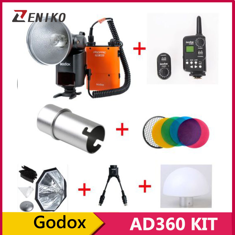100% Original Godox AD 360 360w Outdoor Shooting Light Flash + FT-16 Trigger + Y Cable + AD-S7 Soft Box + AD-S17 Diffuser<br><br>Aliexpress