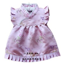 New Baby dress Infant Silk Jacquard Chinese Dress Boutique cheongsam for baby 4Month-3 years 12 opitions Free shipping  QZ-7(China (Mainland))