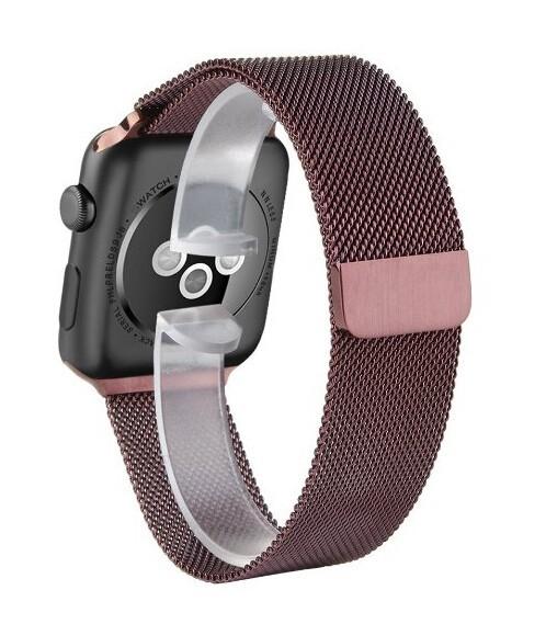 Новая Мода Красочные Кофе Миланской Loop band & Ссылка Браслет Из Нержавеющей Стали Ремешок для Apple Наблюдать 42 мм 38 мм ремешок для часов