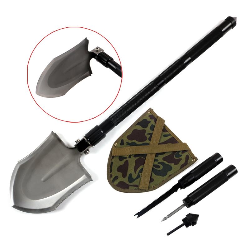Outdoor Camping multifunction Shovel Military Folding Shovel Axe Car Emergency Survival Self Defense Products Tool Free Shipping(China (Mainland))