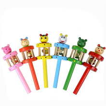 Buy Baby Toy Cartoon Animal Wooden Handbell Musical Developmental Instrument Gift Nov 03 for $1.36 in AliExpress store