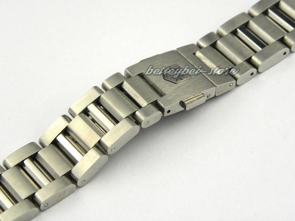 22mm Hot sell New silver High Quality solid 316 stainless steel watch band strap Curved end Bracelets For TAGHEUERwatch<br><br>Aliexpress