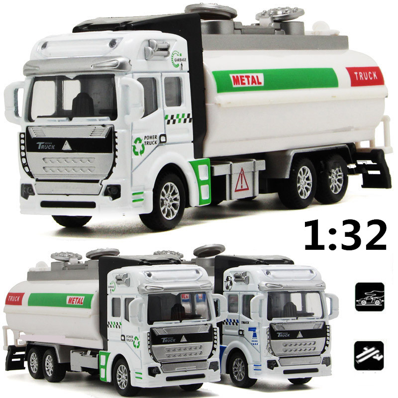 1:32 alloy model firefighting water tankers, educational toys, sound and light back to power simulation model, free shipping(China (Mainland))