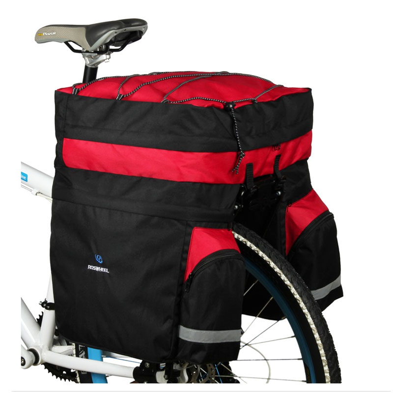 ROSWHEEL 60L MTB Bicycle Carrier Bag Rear Rack Bike Trunk Bag Luggage Pannier Back Seat Double Side Cycling Bycicle Bag 14590(China (Mainland))