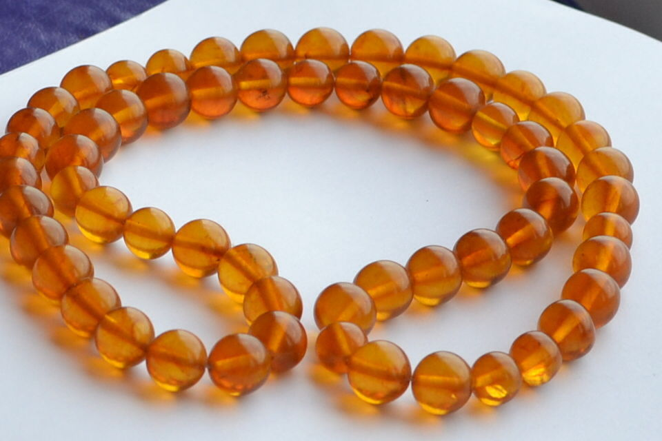 Antique COGNAC COLOR Natural Pressed Baltic Amber Beads Necklace(China (Mainland))