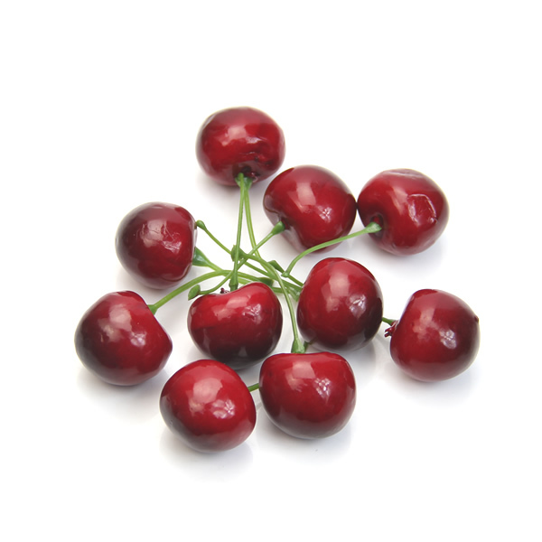 J35 Free Shipping 20pcs Fake Faux Cherry Artificial Fruit Model House Kitchen Party Decorative New(China (Mainland))