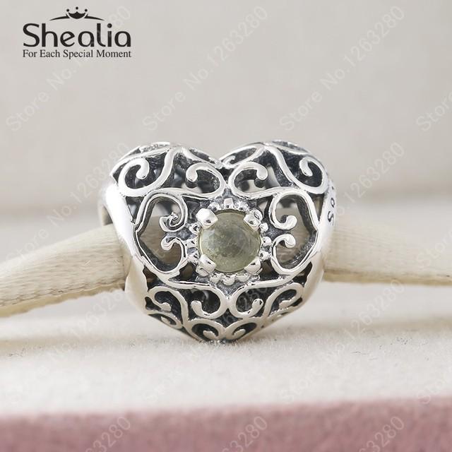 Ноя-тканые камень желтый кристалл ажурные шармов сердца 925 серебро изящные ювелирные DIY аксессуары для женщин браслеты BD325
