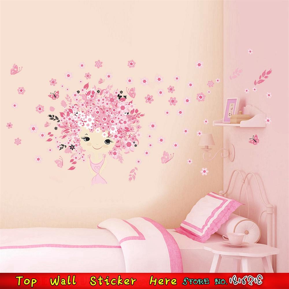 Roze muur decor promotie winkel voor promoties roze muur decor op for Photo deco slaapkamer meisje