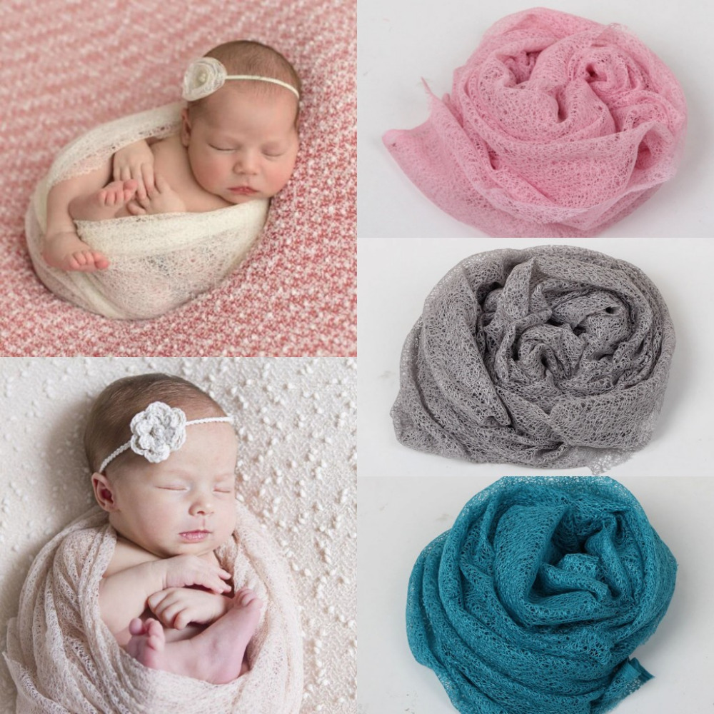 Soft Mesh Gauze Cheesecloth Wraps Baby To Maternity Photography Props Hammocks For Newborn Photo 160*50cm(China (Mainland))