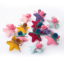 2016 Korea imported fabric hair ornaments alloy Child star cartoon duckbill clip hairpin headwear hair accessories free shipping