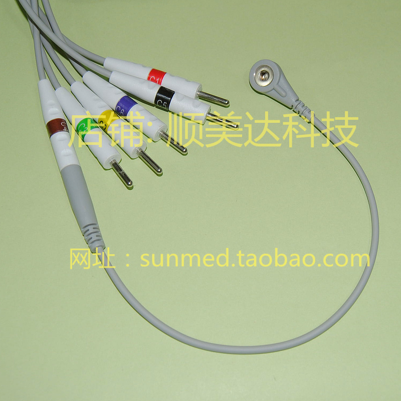 EKG ecg electrode adapter , cable Din 3.0 to Snap(China (Mainland))