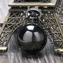 Buy Black Steampunk Smooth Ball Shaped Quartz Pocket Watch Necklace Pendant Chain Womens Lady Gift Relogio De Bolso for $2.99 in AliExpress store