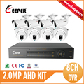 KEEPER 8CH AHD DVR Kit with High quality AHD Camera 2 0MP metal CCTV Camera 30M