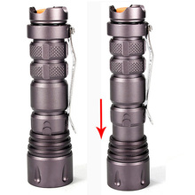 High Power 2000LM CREE XPE-Q5 LED Mini Flashlight Camping Torch Lamps 3 Modes light for 1x14500 or 1xAA[SK72](China (Mainland))