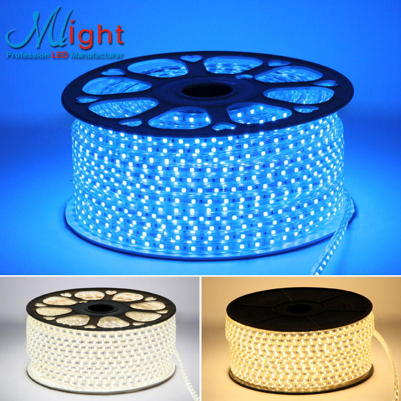 100 Meters 220V smd5050 Flexible LED strip Lights Waterproof Dining room Kitchen decoration Light Strip Wholesale(China (Mainland))