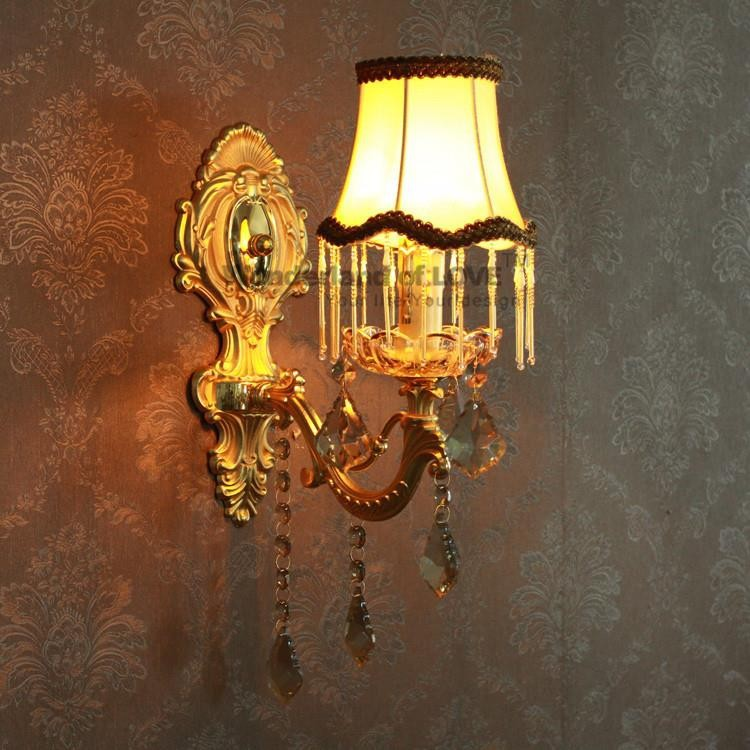 free shipping luxury european wall lamp crystal lighting decoration for hallwaybedroomliving room wll 92 us727