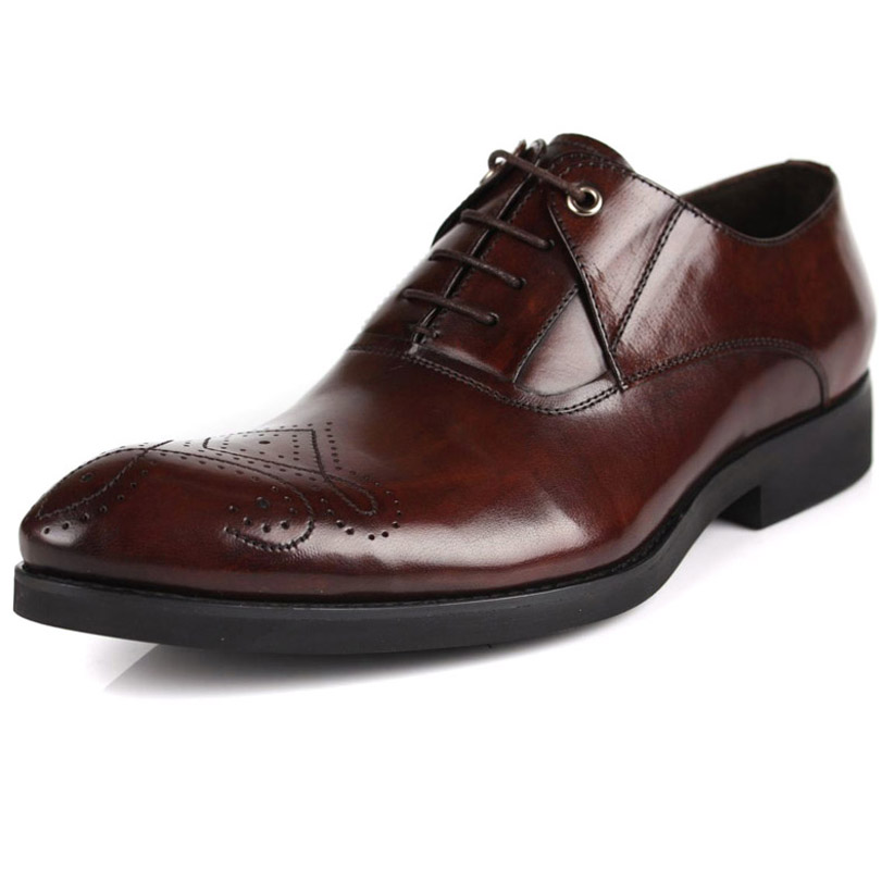 2014 new mens formal leather shoes vintage carved pointed toe lace-up oxfords wedding party dress brogue derbies shoes shoes<br><br>Aliexpress