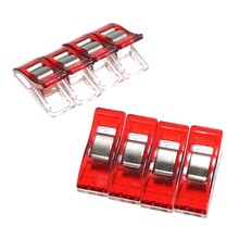 36 pcs/lot DIY Patchwork Fabric Quilting PVC Sewing Knitting Craft Plastic Wonder Red Clips Holder Plastic Stationery(China (Mainland))