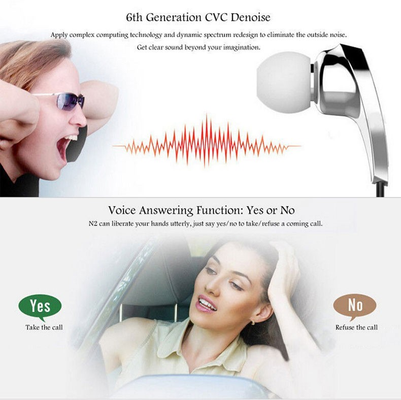 Bluedio n2 Wireless Bluetooth Headset Earphone Headphones Neckband Style With Mic Handsfree Calls For Android/IOS Smartphones