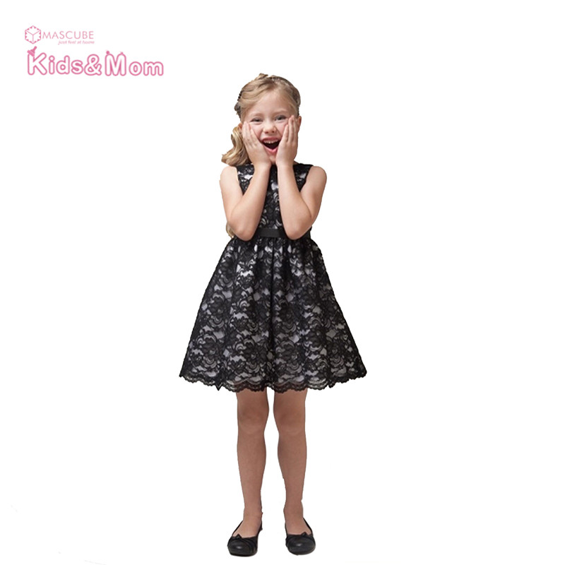 New 2016 Summer Baby Girl Dress Fashion Sleeveless Lace Girls Dresses Party Wedding Princess Dress Kids Clothes(China (Mainland))